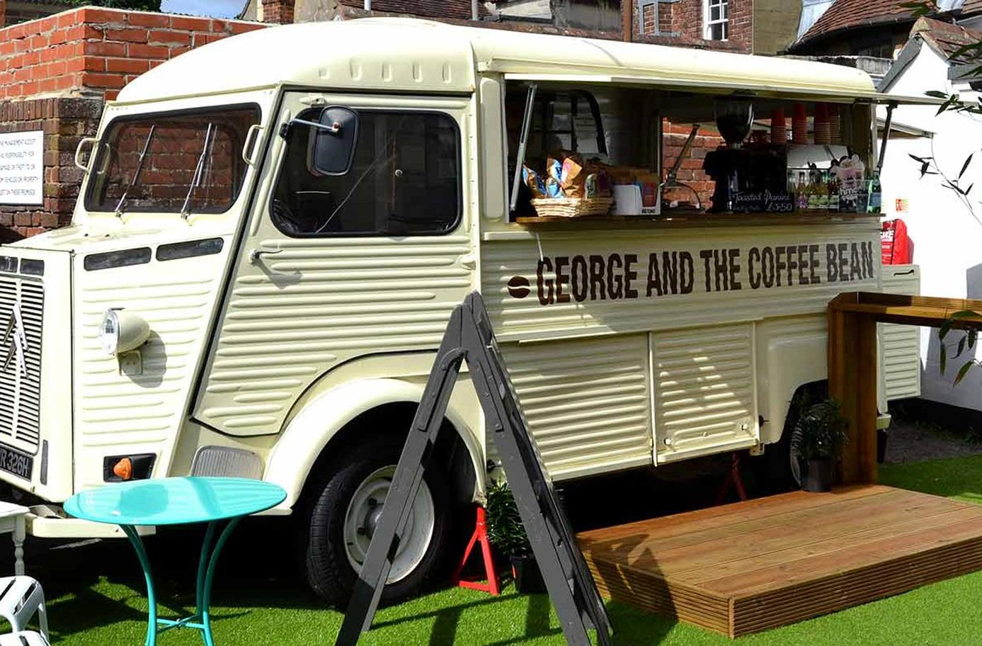 George and the Coffee Bean at Draper's Yard Market and Studios in Chichester